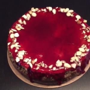 Cherry hazelnut torte